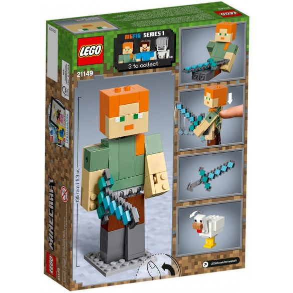 LEGO 21149 Minecraft Alex BigFig with Chicken