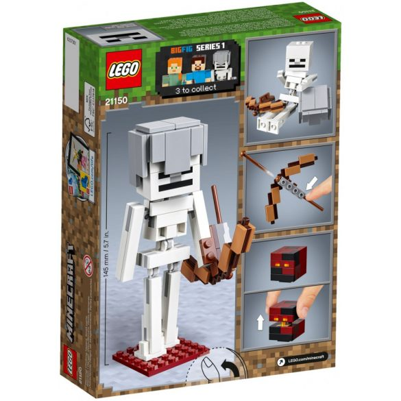 Lego 21150 Minecraft Skeleton BigFig with Magma Cube