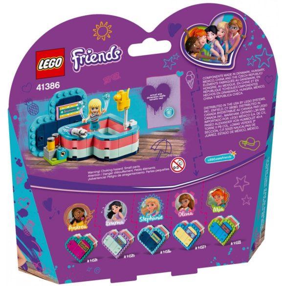 LEGO 41386 Friends Stephanie nyári szív alakú doboza