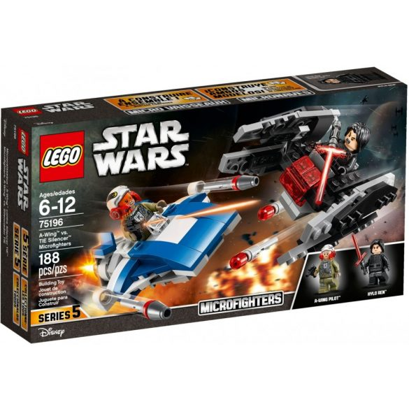 Lego 75196 Star Wars A-Wing vs. TIE Silencer Microfighters
