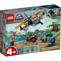 LEGO 75942 Jurassic World Velociraptor: Kétfedelű repülőgépes mentőakció