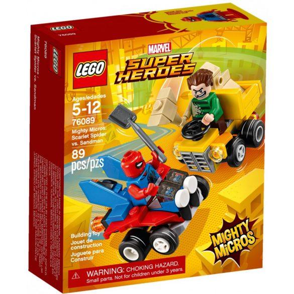 LEGO 76089 Super Heroes Mighty Micros Skarlát Pók és Homokember összecsapása